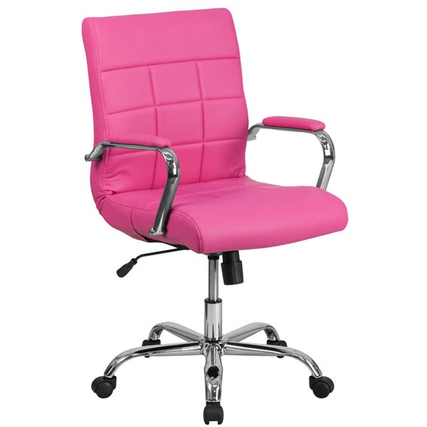 Flash Furniture Pink Vinyl Executive Swivel Chair with Chrome Base FLF-GO-2240-PK-GG