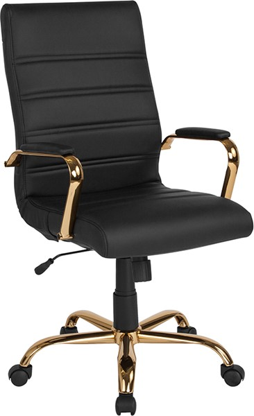 Flash Furniture Black Gold High Back Chair FLF-GO-2286H-BK-GLD-GG