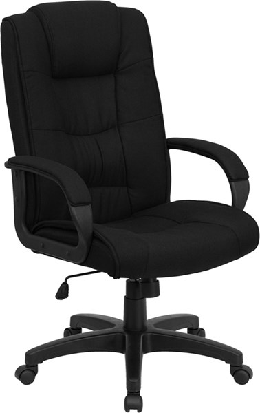High Back Black Fabric Executive Office Chair FLF-GO-5301B-BK-GG