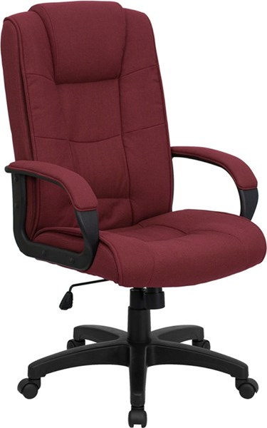 Flash Furniture High Back Burgundy Fabric Executive Office Chair FLF-GO-5301B-BY-GG