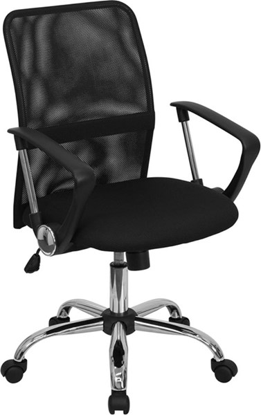 Flash Furniture Mid Back Black Mesh Computer Chair with Chrome Base FLF-GO-6057-GG