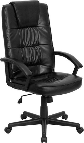 Flash Furniture Black Leather Plastic High Back Office Chair FLF-GO-7102-GG