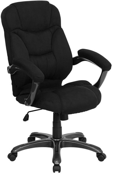 Flash Furniture Black Microfiber Upholstered Office Chair FLF-GO-725-BK-GG