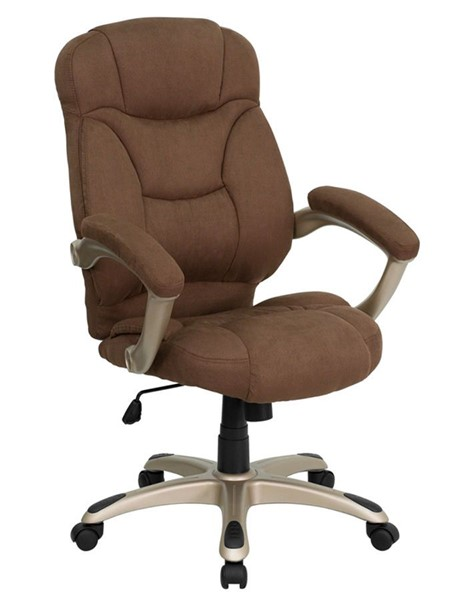 Flash Furniture Brown Microfiber Upholstered Office Chair FLF-GO-725-BN-GG