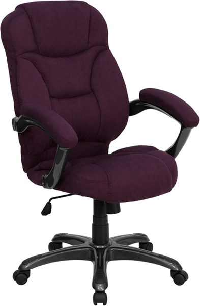 High Back Grape Microfiber Upholstered Contemporary Office Chair FLF-GO-725-GRPE-GG