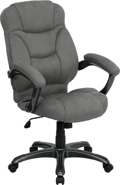 Flash Furniture Gray Microfiber Upholstered Office Chair FLF-GO-725-GY-GG