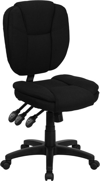Flash Furniture Mid Back Fabric Ergonomic Task Chairs FLF-GO-930F-GG-VAR