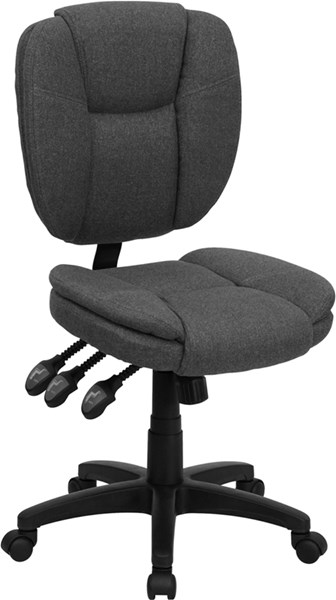 Flash Furniture Mid Back Gray Fabric Ergonomic Task Chair FLF-GO-930F-GY-GG