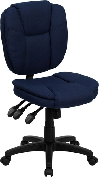 Flash Furniture Mid Back Navy Blue Fabric Ergonomic Task Chair FLF-GO-930F-NVY-GG
