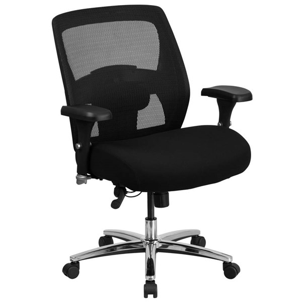 Flash Furniture Hercules Black Executive Swivel Chair with Ratchet Back FLF-GO-99-3-GG