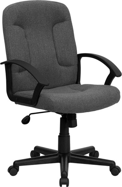 Flash Furniture Gray Fabric Task and Computer Chair with Arms FLF-GO-ST-6-GY-GG