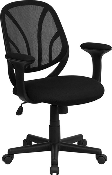 Y-GO Chair Mid-Back Black Mesh Computer Task Chairs FLF-GO-WY-05-GG-VAR