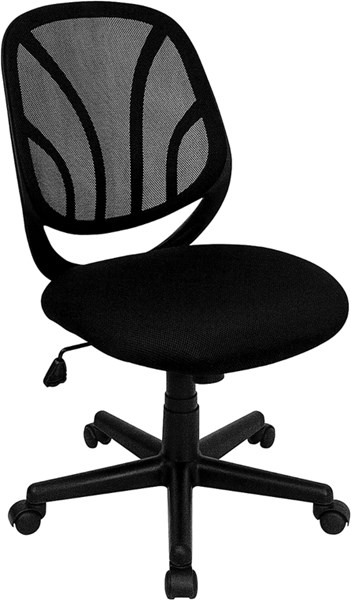 Y-GO Chair Mid-Back Black Mesh Computer Task Chair FLF-GO-WY-05-GG