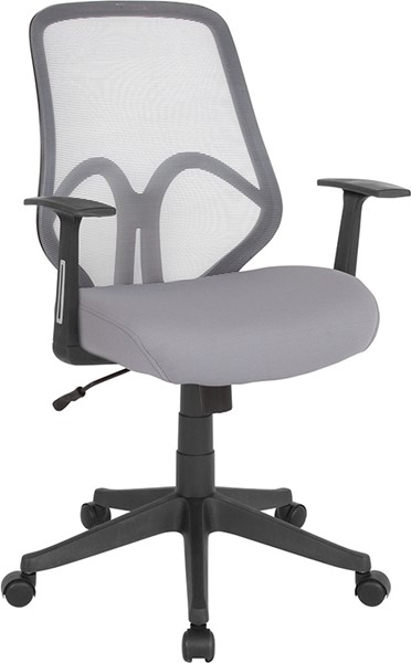 Flash Furniture Salerno Light Gray Plastic High Back Mesh Chair FLF-GO-WY-193A-A-LTGY-GG