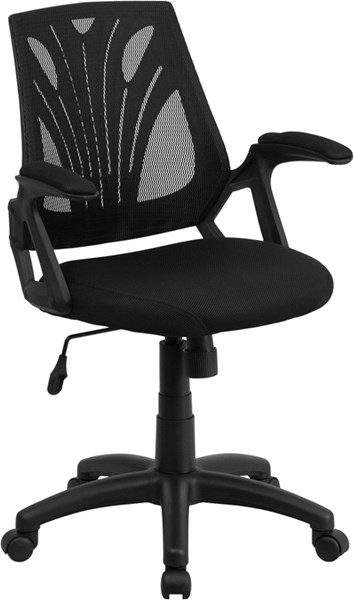 Flash Furniture Black Swivel Task Chair with Mesh Padded Seat FLF-GO-WY-82-GG