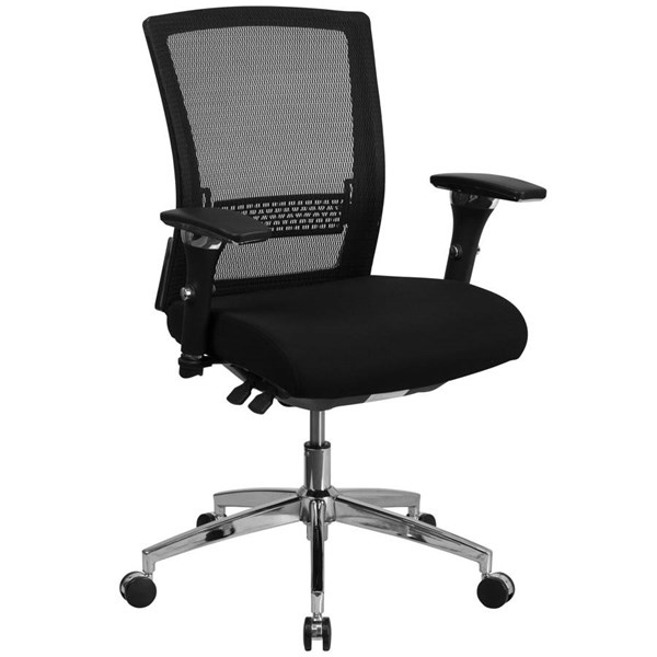 Flash Furniture Hercules Black Mesh Seat Slider Executive Swivel Chair FLF-GO-WY-85-8-GG