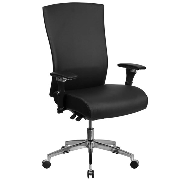 Flash Furniture Hercules Black Leather Executive Swivel Chair with Seat Slider FLF-GO-WY-85H-1-GG