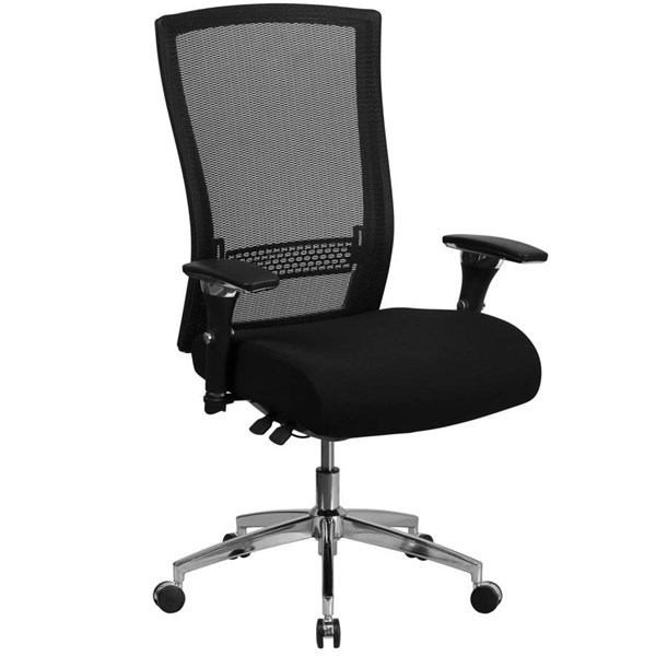Flash Furniture Hercules Black Mesh Executive Swivel Chair with Seat Slider FLF-GO-WY-85H-GG