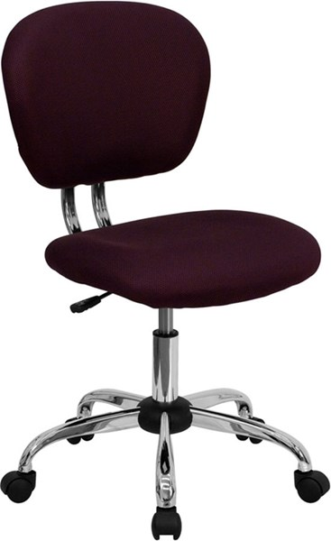 Flash Furniture Burgundy Mesh Adjustable Height Task Chair FLF-H-2376-F-BY-GG