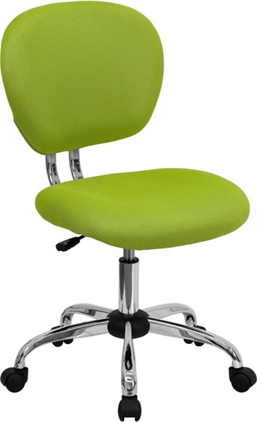 Mid-Back Apple Green Mesh Adjustable Height Task Chair FLF-H-2376-F-GN-GG