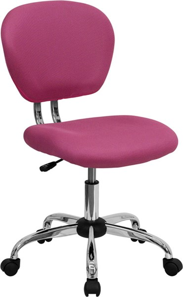 Mid-Back Pink Mesh Adjustable Height Task Chair FLF-H-2376-F-PINK-GG