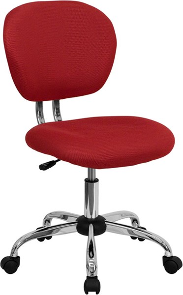 Mid-Back Red Mesh Adjustable Height Task Chair FLF-H-2376-F-RED-GG