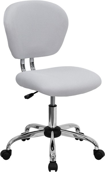 Flash Furniture White Mesh Adjustable Height Task Chair FLF-H-2376-F-WHT-GG