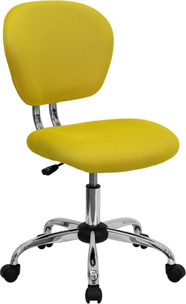 Flash Furniture Yellow Mesh Adjustable Height Task Chair FLF-H-2376-F-YEL-GG