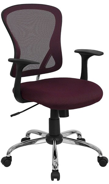 Flash Furniture Mid Back Burgundy Mesh Office Chair with Chrome Base FLF-H-8369F-ALL-BY-GG