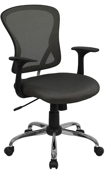 Flash Furniture Mid Back Dark Gray Mesh Office Chair with Chrome Base FLF-H-8369F-DK-GY-GG