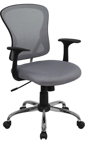 Flash Furniture Mid Back Gray Mesh Office Chair with Chrome Base FLF-H-8369F-GY-GG