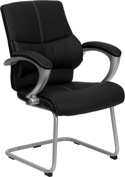Flash Furniture Black Leather Plastic Executive Side Chair FLF-H-9637L-3-SIDE-GG