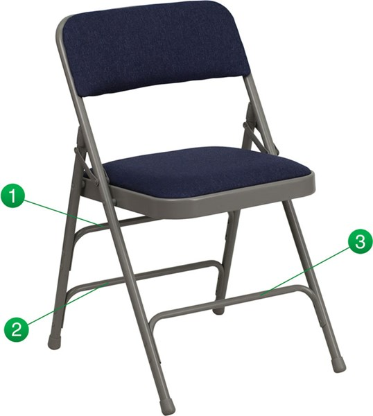 Flash Furniture Hercules Quad Hinged Navy Fabric Folding Chair FLF-HA-MC309AF-NVY-GG