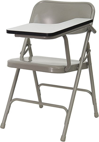 Flash Furniture Premium Steel Folding Chair with Left Handed Tablet Arm FLF-HF-309AST-LFT-GG
