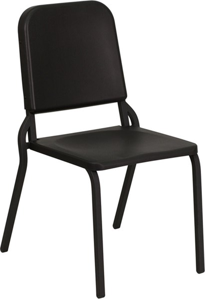 Flash Furniture Hercules Black High Density Stackable Melody Band Music Chair FLF-HF-MUSIC-GG