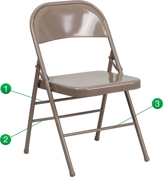 Flash Furniture Hercules Quad Hinged Metal Folding Chairs FLF-HF3-MC-309AS-GG-VAR