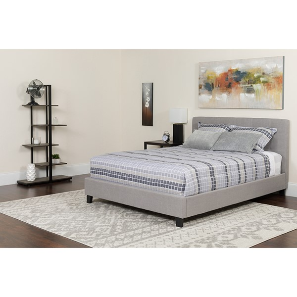 Flash Furniture Chelsea Light Gray Full Platform Bed FLF-HG-10-GG