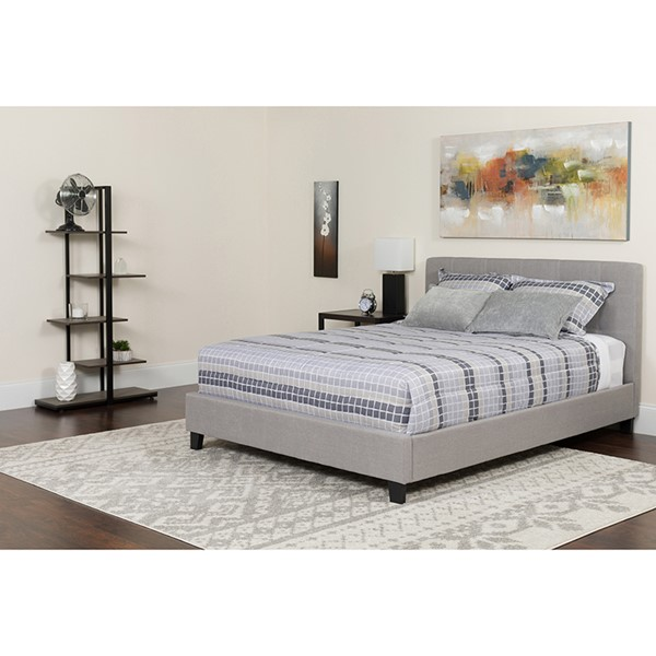 Flash Furniture Chelsea Light Gray Queen Platform Bed FLF-HG-11-GG