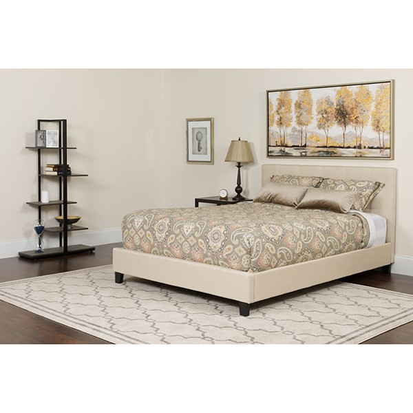 Flash Furniture Tribeca Beige Full Platform Bed FLF-HG-18-GG