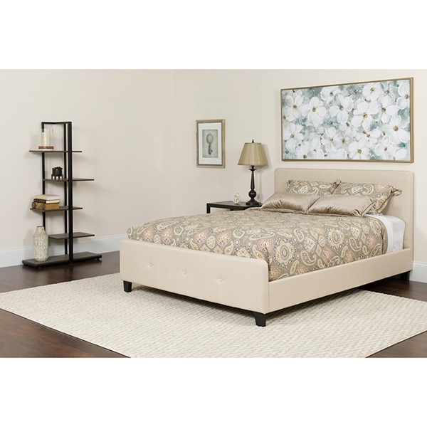 Flash Furniture Tribeca Beige Queen Platform Bed FLF-HG-19-GG