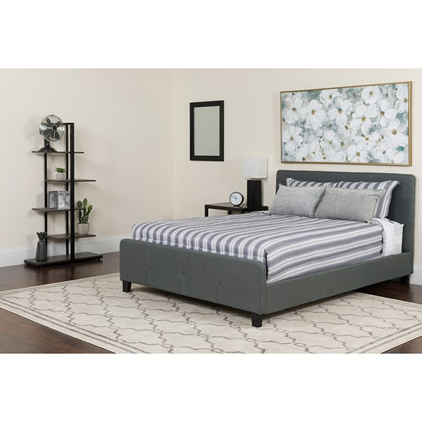 Flash Furniture Tribeca Dark Gray Queen Platform Bed FLF-HG-31-GG