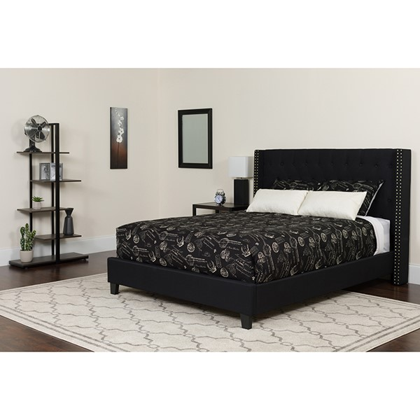 Flash Furniture Riverdale Black Full Platform Bed FLF-HG-38-GG