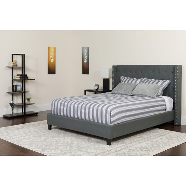 Flash Furniture Riverdale Dark Gray Full Platform Bed FLF-HG-46-GG