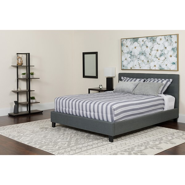 Flash Furniture Chelsea Dark Gray Queen Platform Bed Set FLF-HG-BM-15-GG