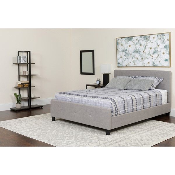 Flash Furniture Tribeca Light Gray King Platform Bed Set FLF-HG-BM-28-GG