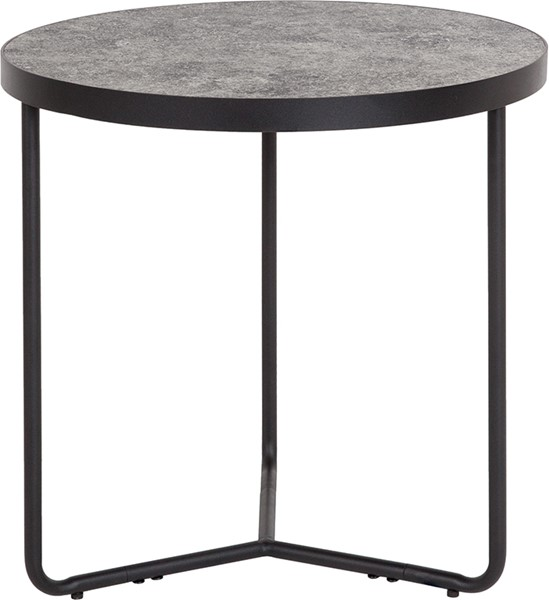Flash Furniture Providence Concrete End Table FLF-HG-CT315-500X500-GG