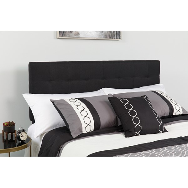 Flash Furniture Bedford Black King Headboard FLF-HG-HB1704-K-BK-GG