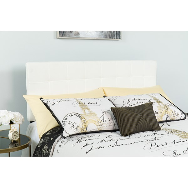 Flash Furniture Bedford White Twin Headboard FLF-HG-HB1704-T-W-GG