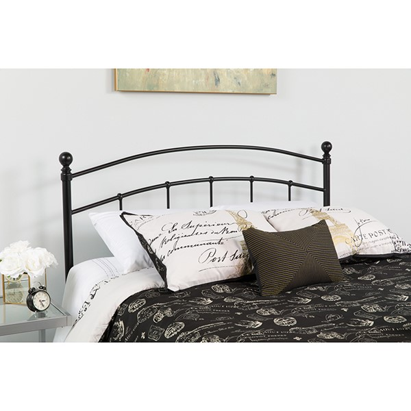 Flash Furniture Woodstock Black Metal Twin Headboard FLF-HG-HB1706-T-GG