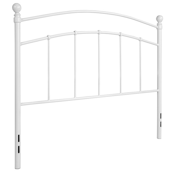 Flash Furniture Woodstock White Metal Full Headboard FLF-HG-HB1706-WH-F-GG